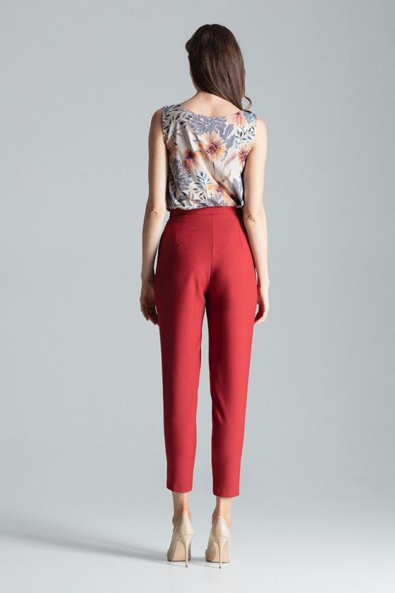 Rausvos spalvos voko stiliaus suknelė su dirželiu_59550