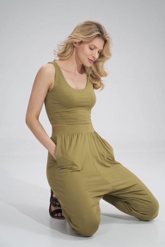 Raudonos spalvos voko stiliaus suknelė su dirželiu_59562