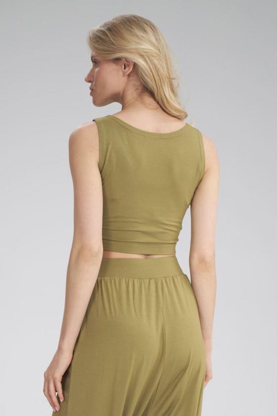 Raudonos spalvos voko stiliaus suknelė su dirželiu_59564