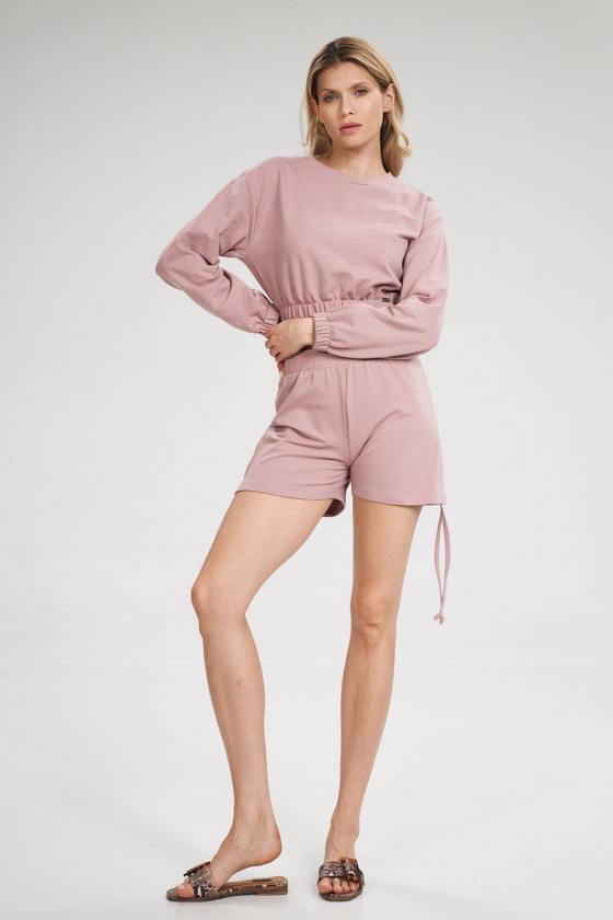Rausvos spalvos suknelė be rankovių_59588