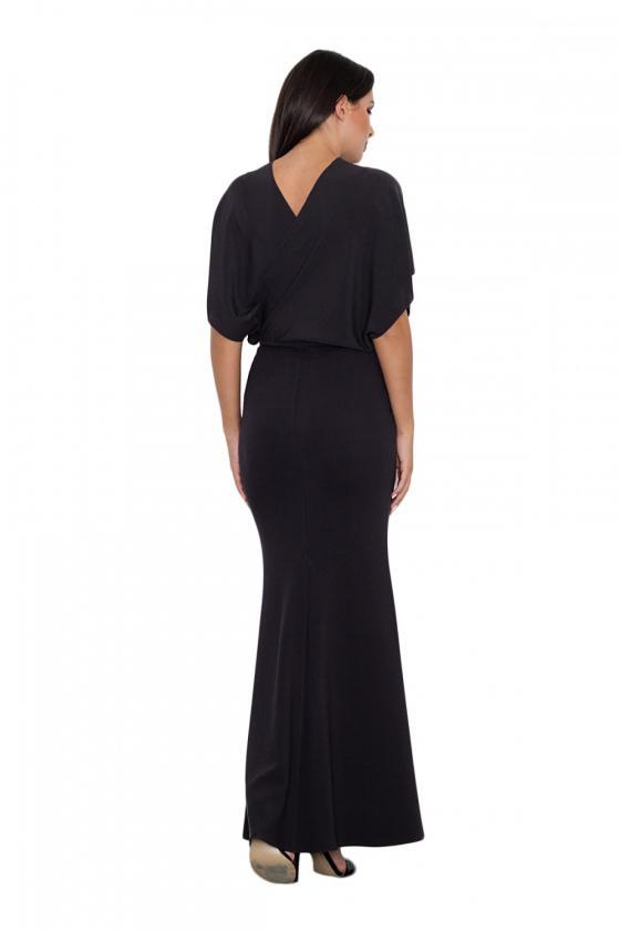 Elegantiška juoda suknelė dekoruota nėriniais_59806