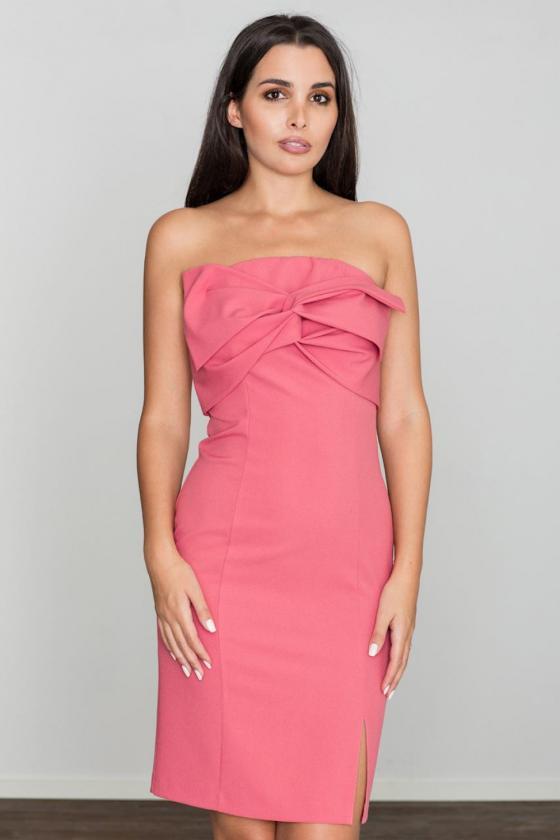 Elegantiška juoda suknelė dekoruota nėriniais_59807