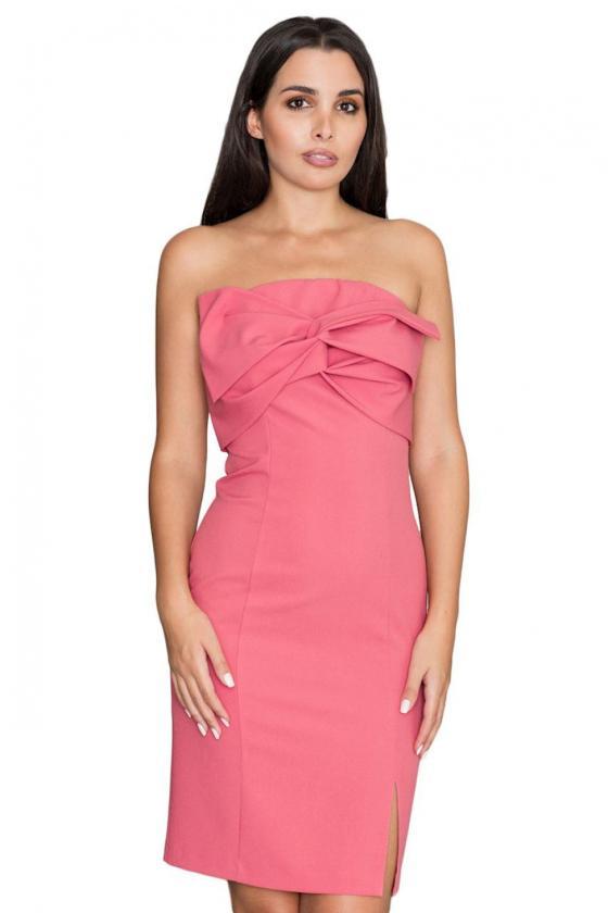 Elegantiška juoda suknelė dekoruota nėriniais_59808