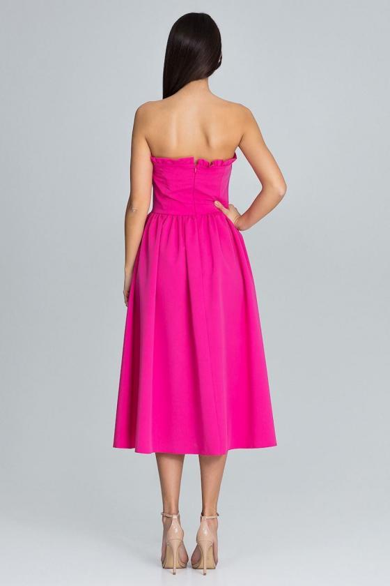 Stilinga bordinė suknelė plasdančiomis rankovėmis