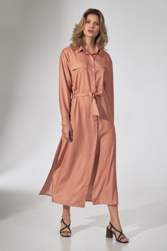 Pilka laisvalaikio  suknelė su kapišonu_60102