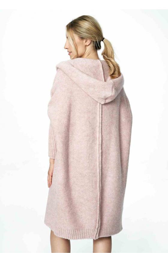 Neoninė žalia laisvalaikio  suknelė su kapišonu_60126