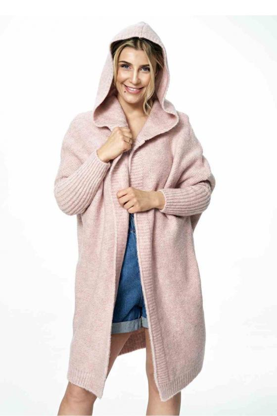 Neoninė žalia laisvalaikio  suknelė su kapišonu_60127