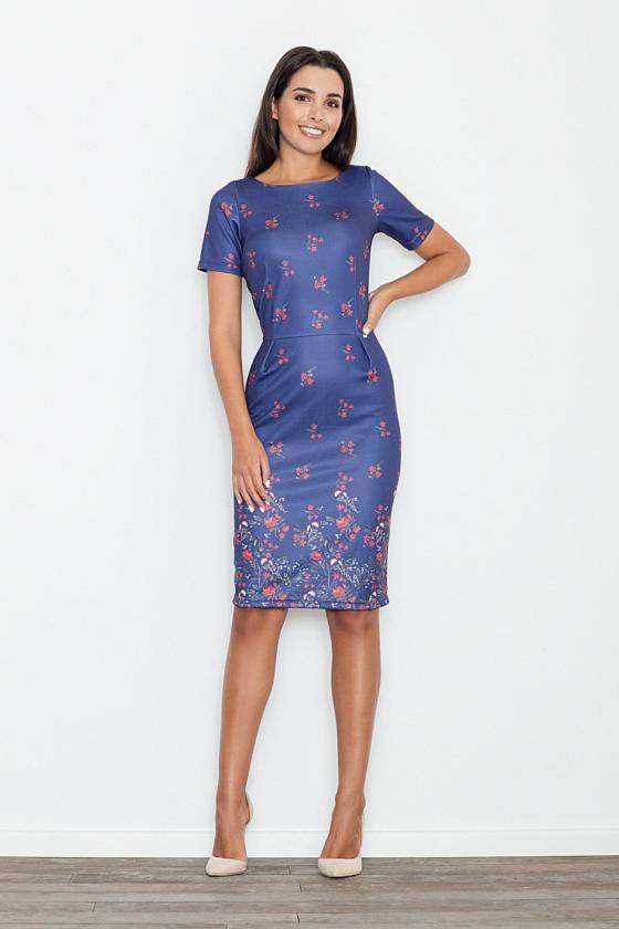 Romantiška aviečių spalvos suknelė atvirais pečiais_60226