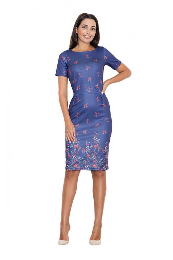 Romantiška aviečių spalvos suknelė atvirais pečiais_60227