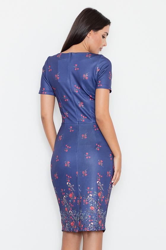 Romantiška aviečių spalvos suknelė atvirais pečiais