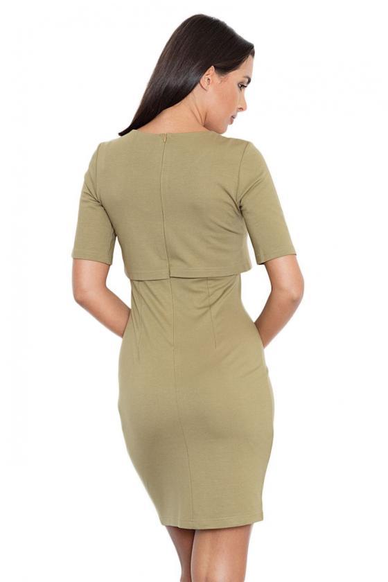 Romantiška rausvos spalvos suknelė atvirais pečiais