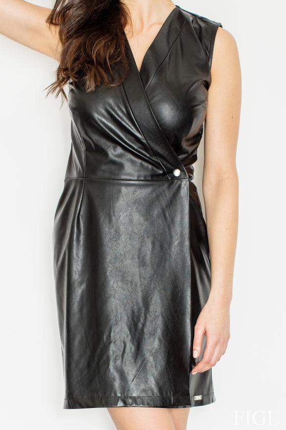 Juodos spalvos sijonas dekoruotas gėlėmis