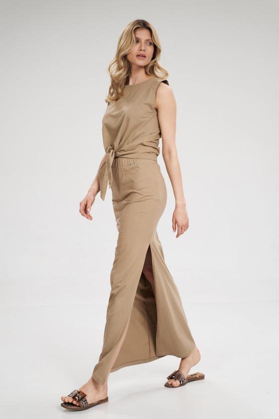 Violetinės spalvos sijonas dekoruotas gėlėmis_60279