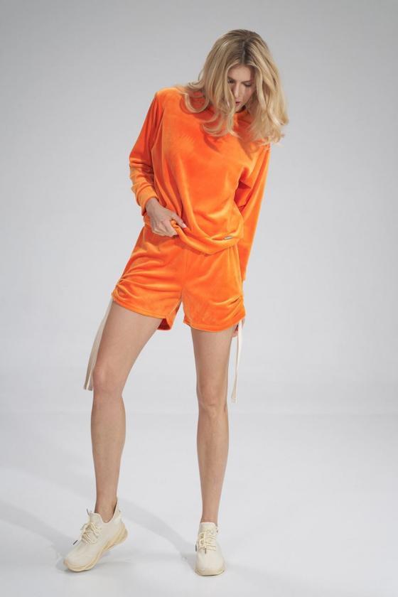Violetinės spalvos sijonas dekoruotas gėlėmis_60281