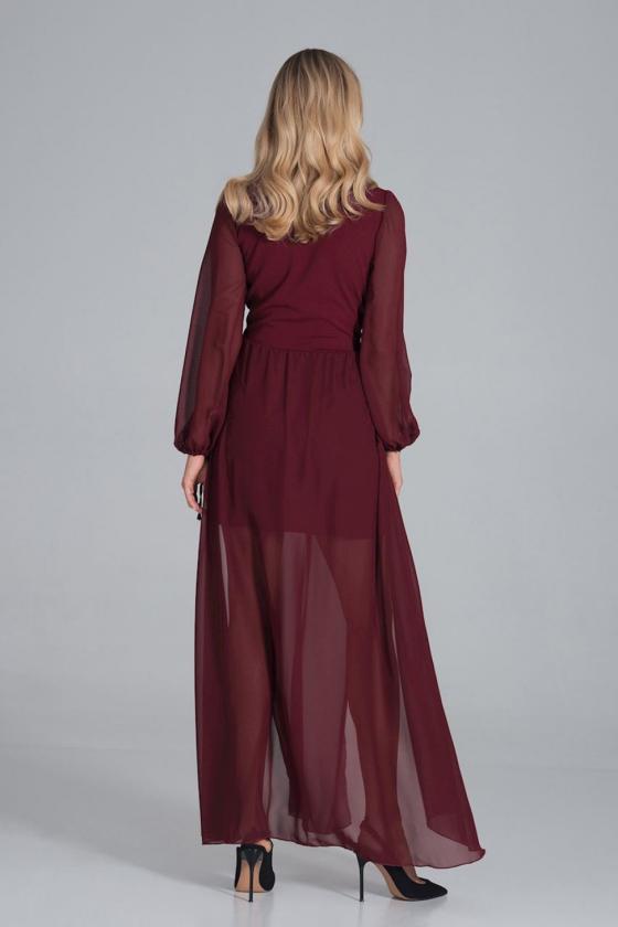 """Smėlinė šifoninė suknelė """"Valentina""""_60303"""