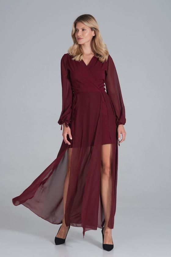 """Smėlinė šifoninė suknelė """"Valentina"""""""