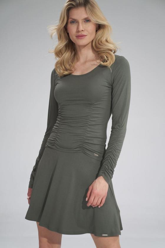 "Trumpa mėlyna suknelė ""Aria""_60326"