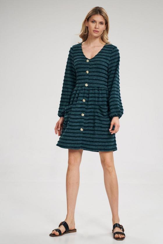 """Trumpa juoda suknelė """"Aria""""_60358"""
