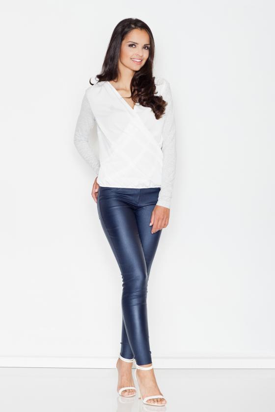 Mėlynos spalvos džinsų imitacijos leginsai dekoruoti gėlėmis_60557