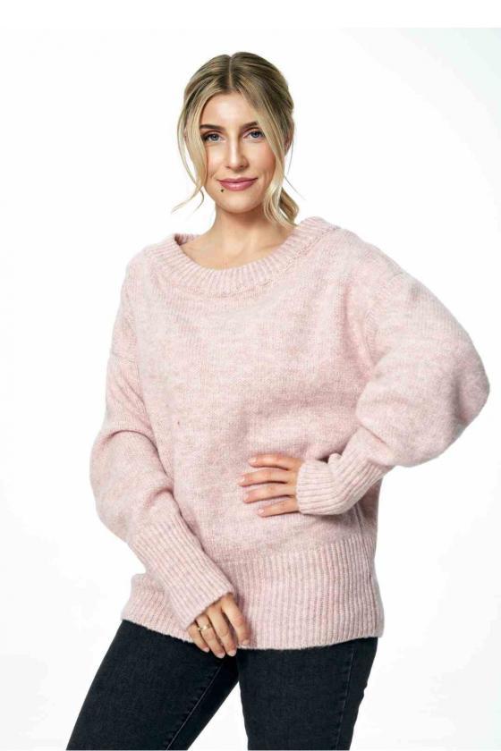 Mėlynos spalvos džinsų imitacijos leginsai dekoruoti gėlėmis_60559