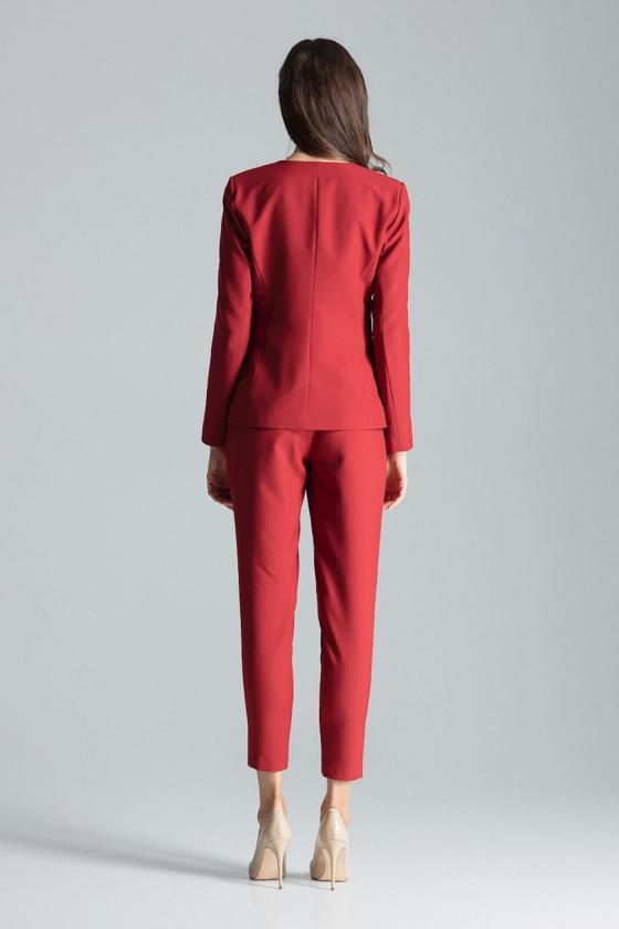 Medvilninė raudonos spalvos laisvalaikio suknelė_61096