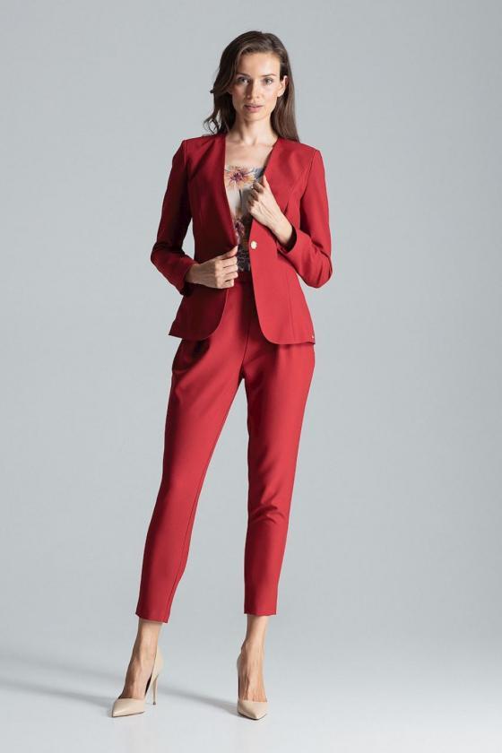 Medvilninė raudonos spalvos laisvalaikio suknelė_61097