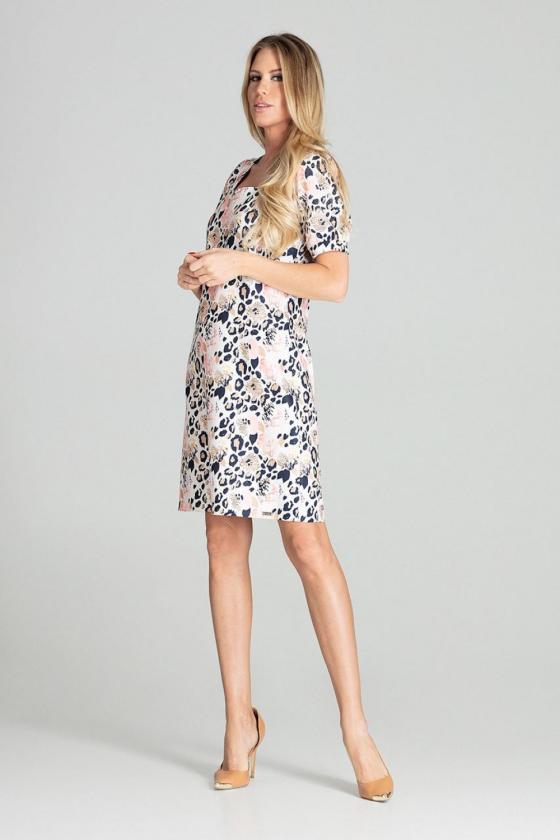 """Raudona plisuota suknelė su dirželiu """"Lila"""""""