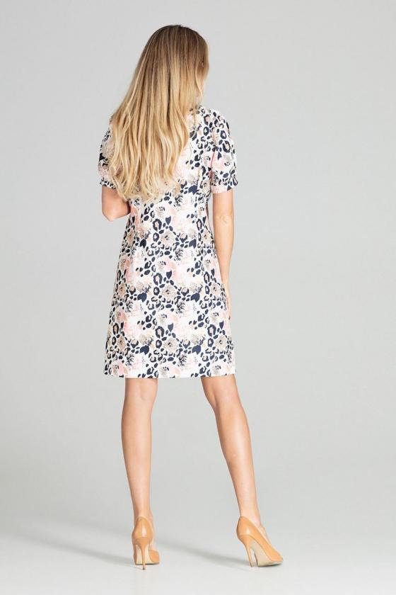 """Raudona plisuota suknelė su dirželiu """"Lila""""_61256"""