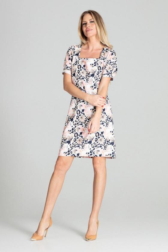 """Raudona plisuota suknelė su dirželiu """"Lila""""_61257"""