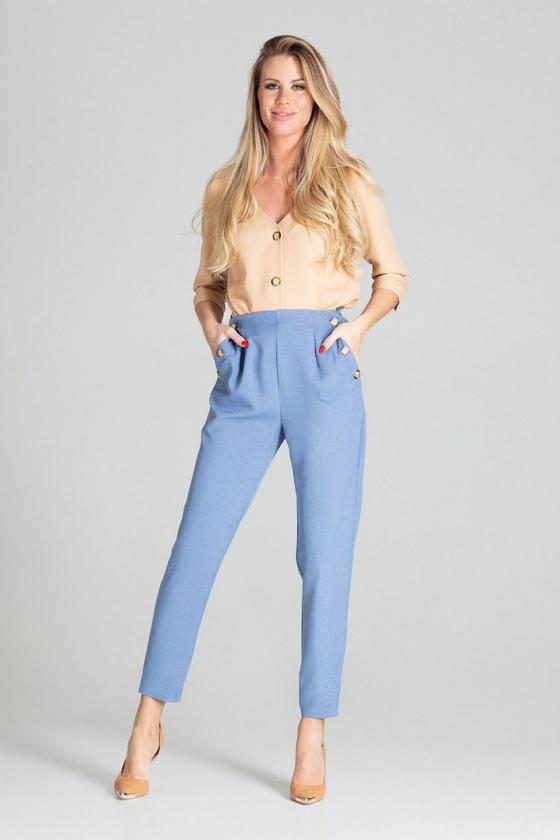 """Žalia plisuota suknelė su dirželiu """"Lila"""""""