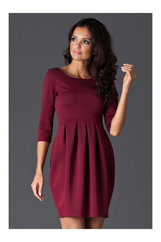 """Žalia plisuota suknelė su dirželiu """"Lila""""_61266"""
