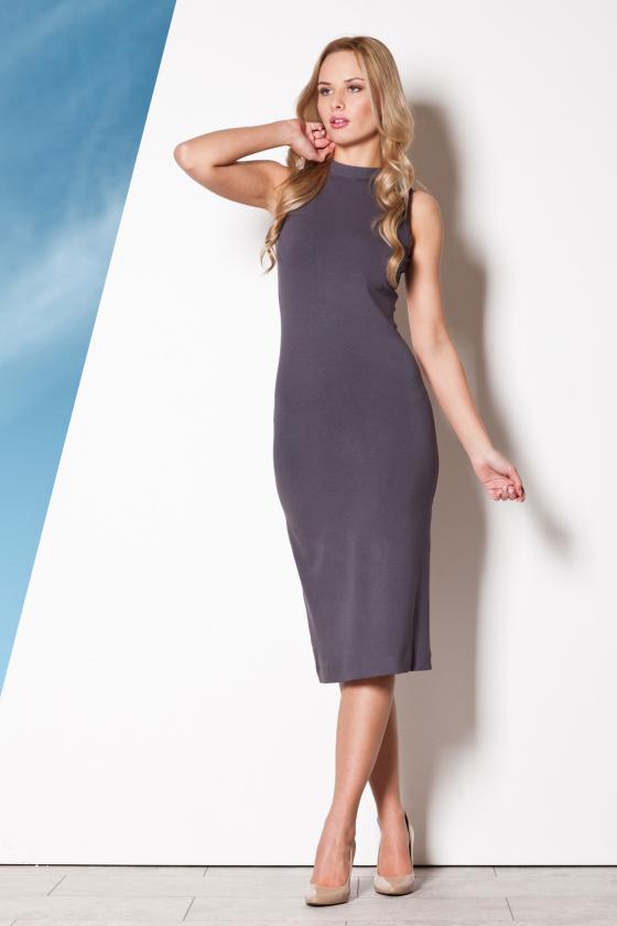 Ilga balta vasarinė suknelė su dirželiu