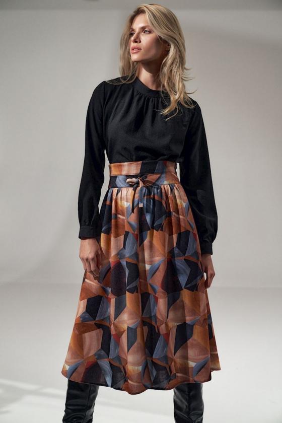 Ilga balta vasarinė suknelė su dirželiu_61271