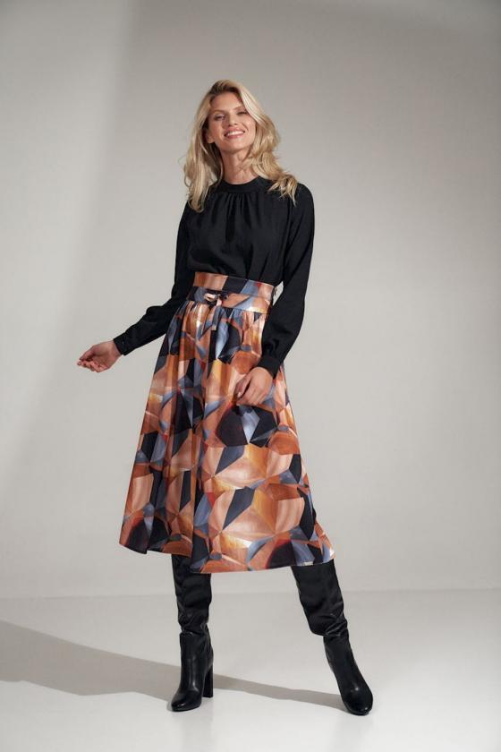 Ilga balta vasarinė suknelė su dirželiu_61272