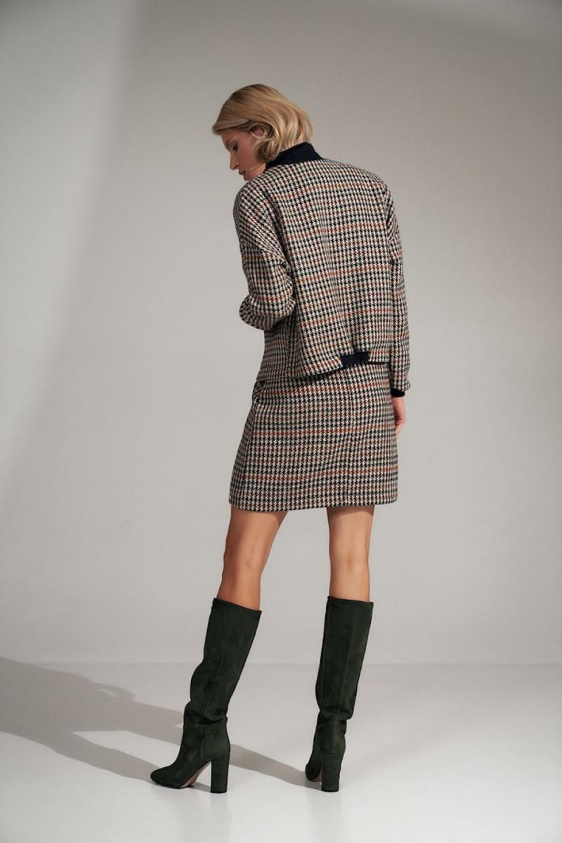 Elegantiška raudona suknelė su nėrinių intarpais_61277