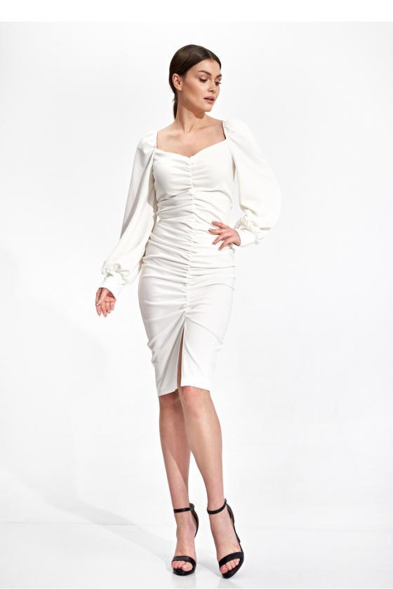 Elegantiška juoda suknelė su nėrinių intarpais_61280