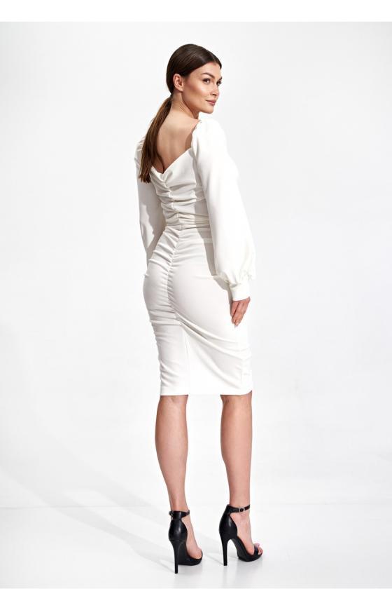 Elegantiška juoda suknelė su nėrinių intarpais_61281