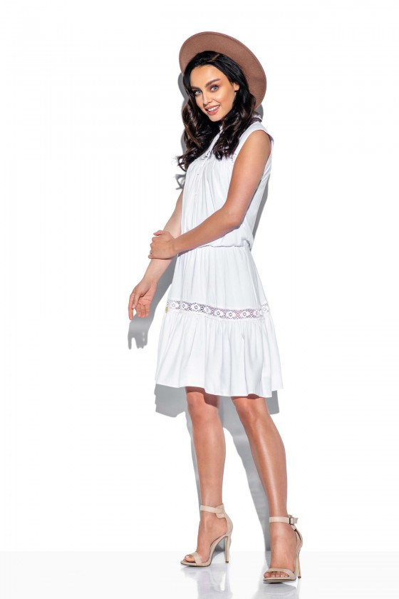 Madinga balta suknelė be rankovių_61303