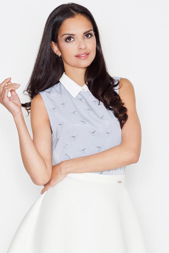 Smėlio spalvos klostuota asimetriška suknelė