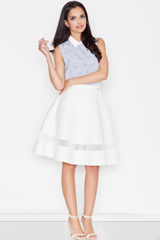 Smėlio spalvos klostuota asimetriška suknelė_61331