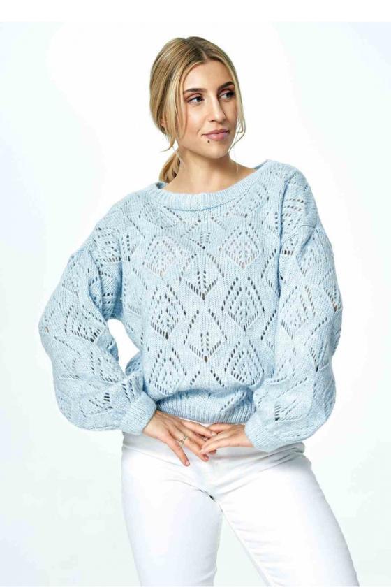Chaki spalvos klostuota asimetriška suknelė_61340