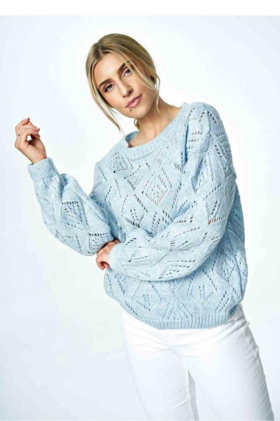 Chaki spalvos klostuota asimetriška suknelė