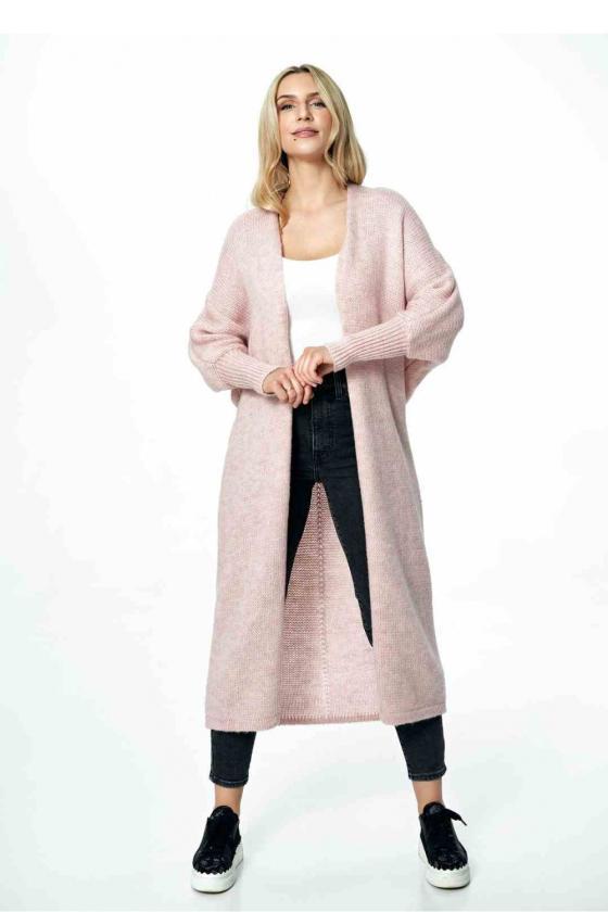 Baltos spalvos klostuota asimetriška suknelė_61347