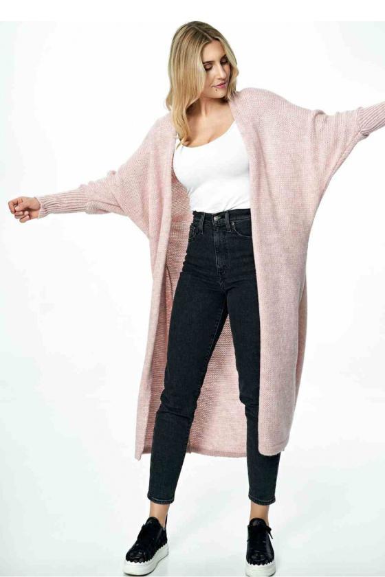 Baltos spalvos klostuota asimetriška suknelė_61348