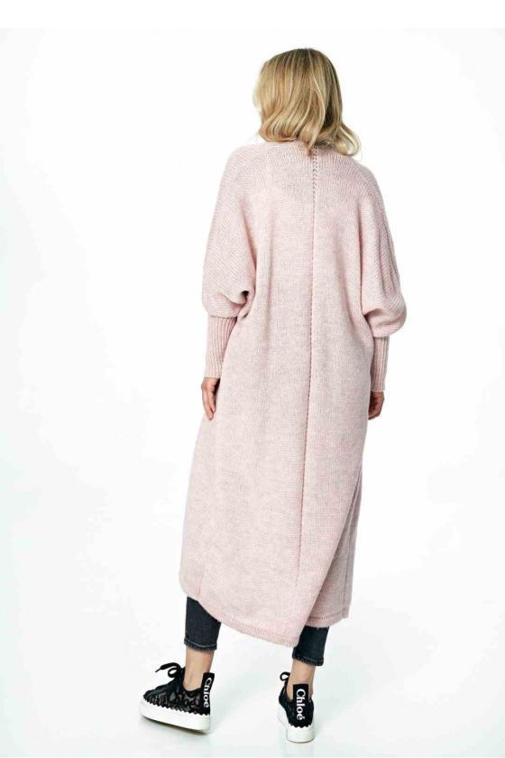 Baltos spalvos klostuota asimetriška suknelė