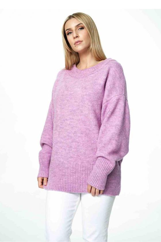 Mėlynos spalvos klostuota asimetriška suknelė_61355
