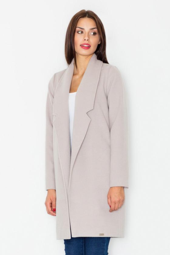 Žydros spalvos klasikinė suknelė su kloste