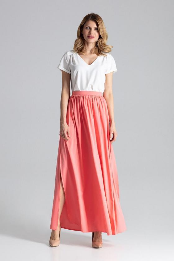 Violetinės spalvos klasikinė suknelė su kloste_61425