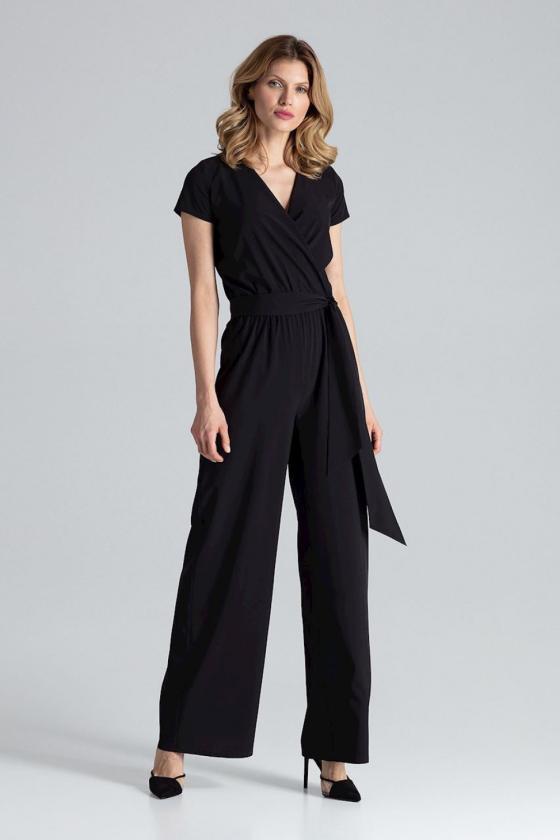 Violetinės spalvos klasikinė suknelė su kloste_61426