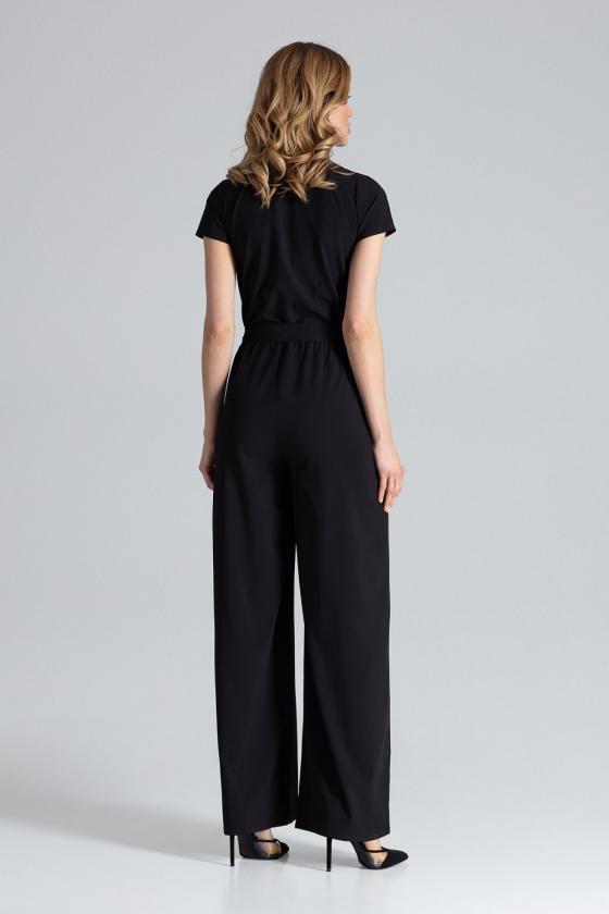Violetinės spalvos klasikinė suknelė su kloste